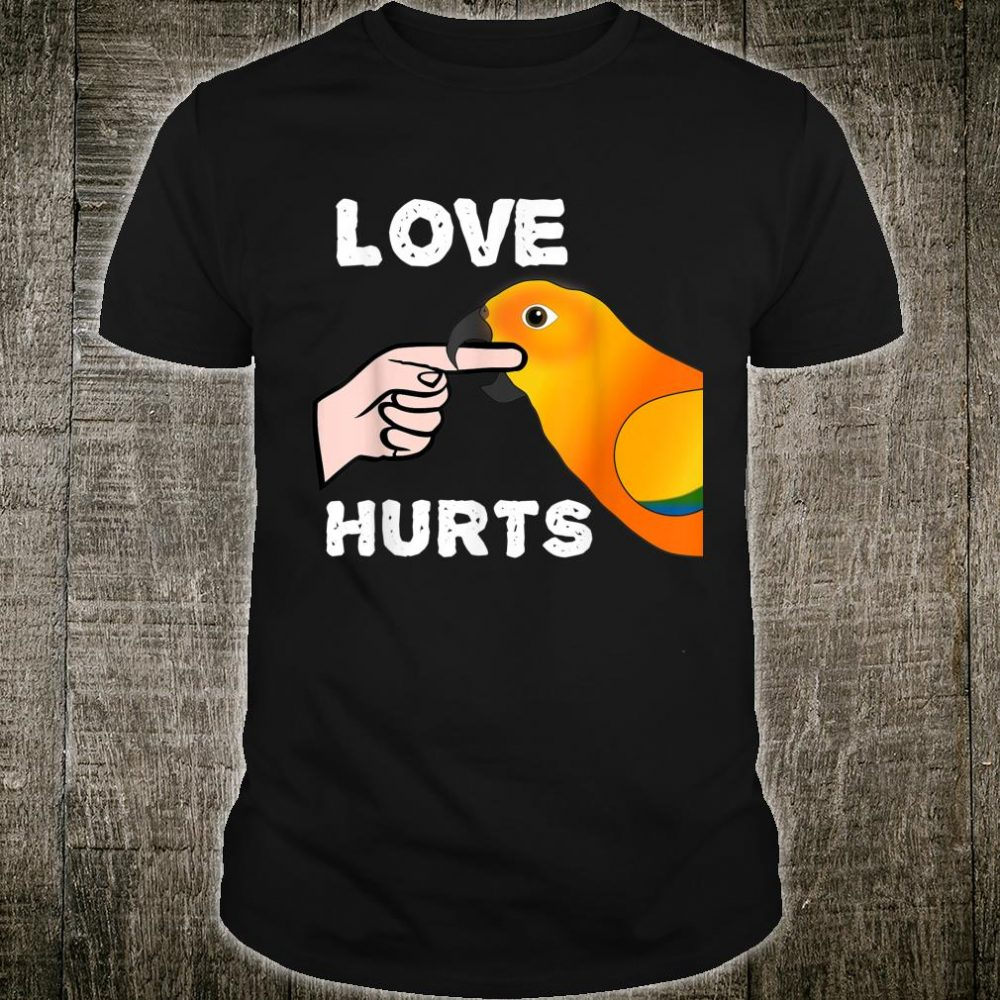 Love Hurts Sun Conure Parrot Shirt Valentine's Day Shirt