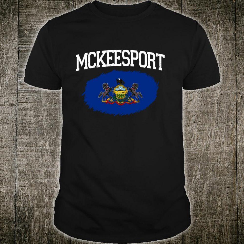 MCKEESPORT PA PENNSYLVANIA Flag Vintage USA Sports Shirt