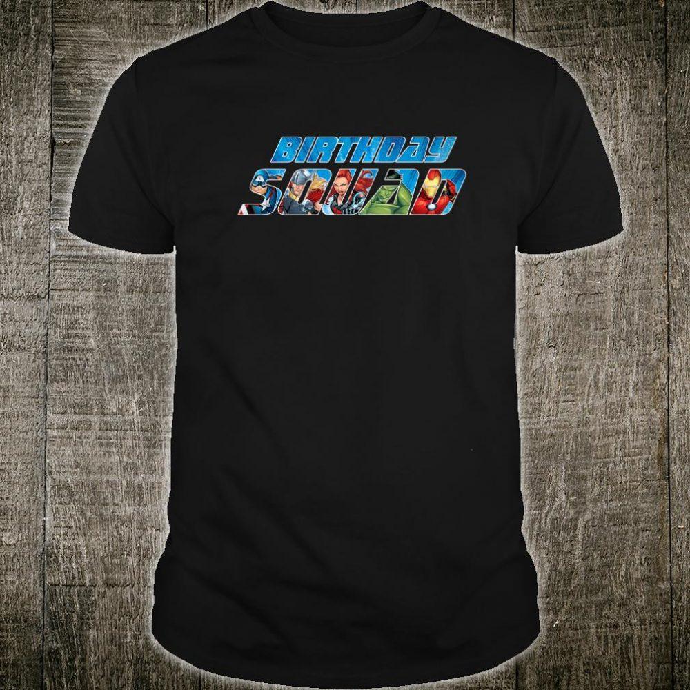 Marvel Avengers Birthday Squad Shirt