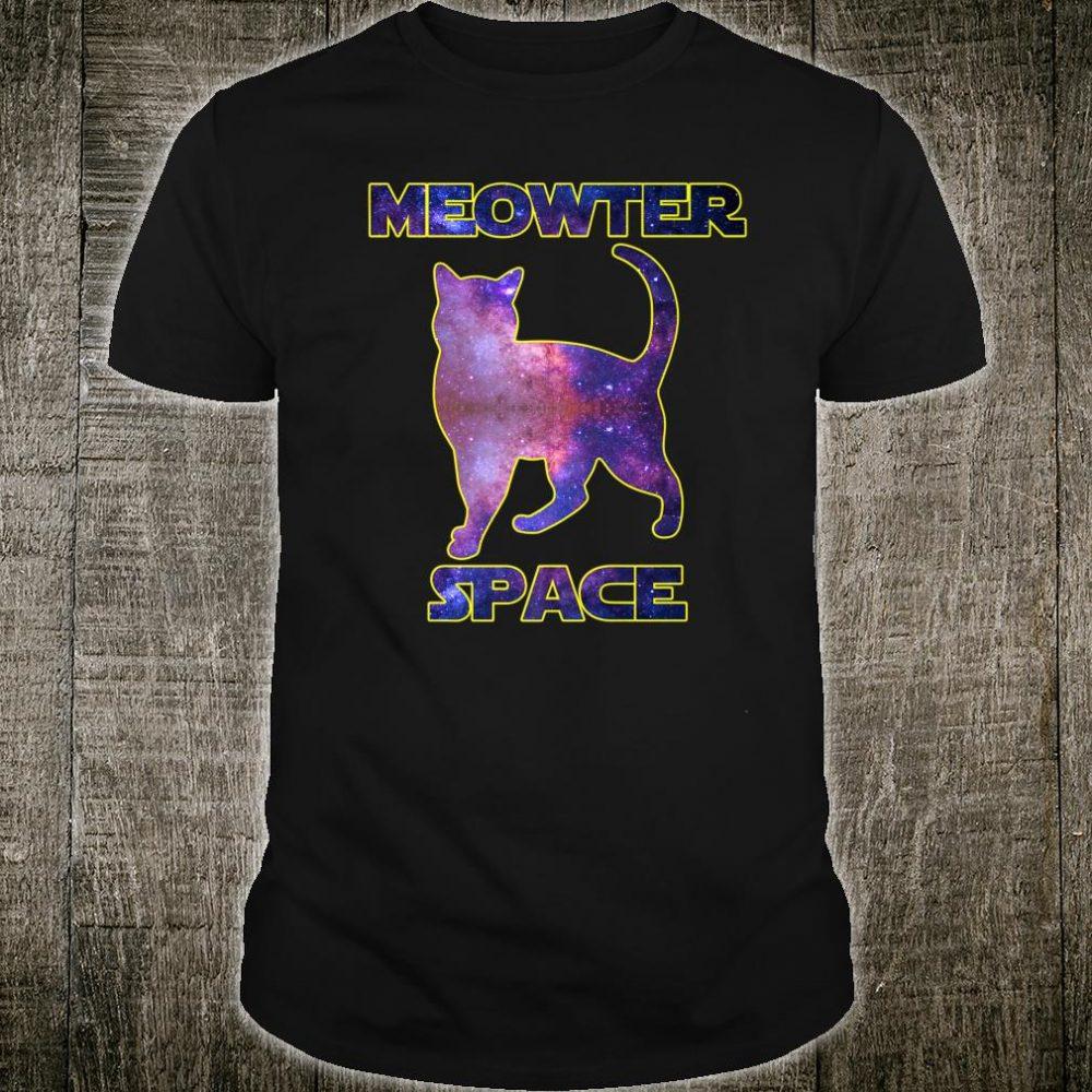 Meowter Space Kitty Cat Shirt