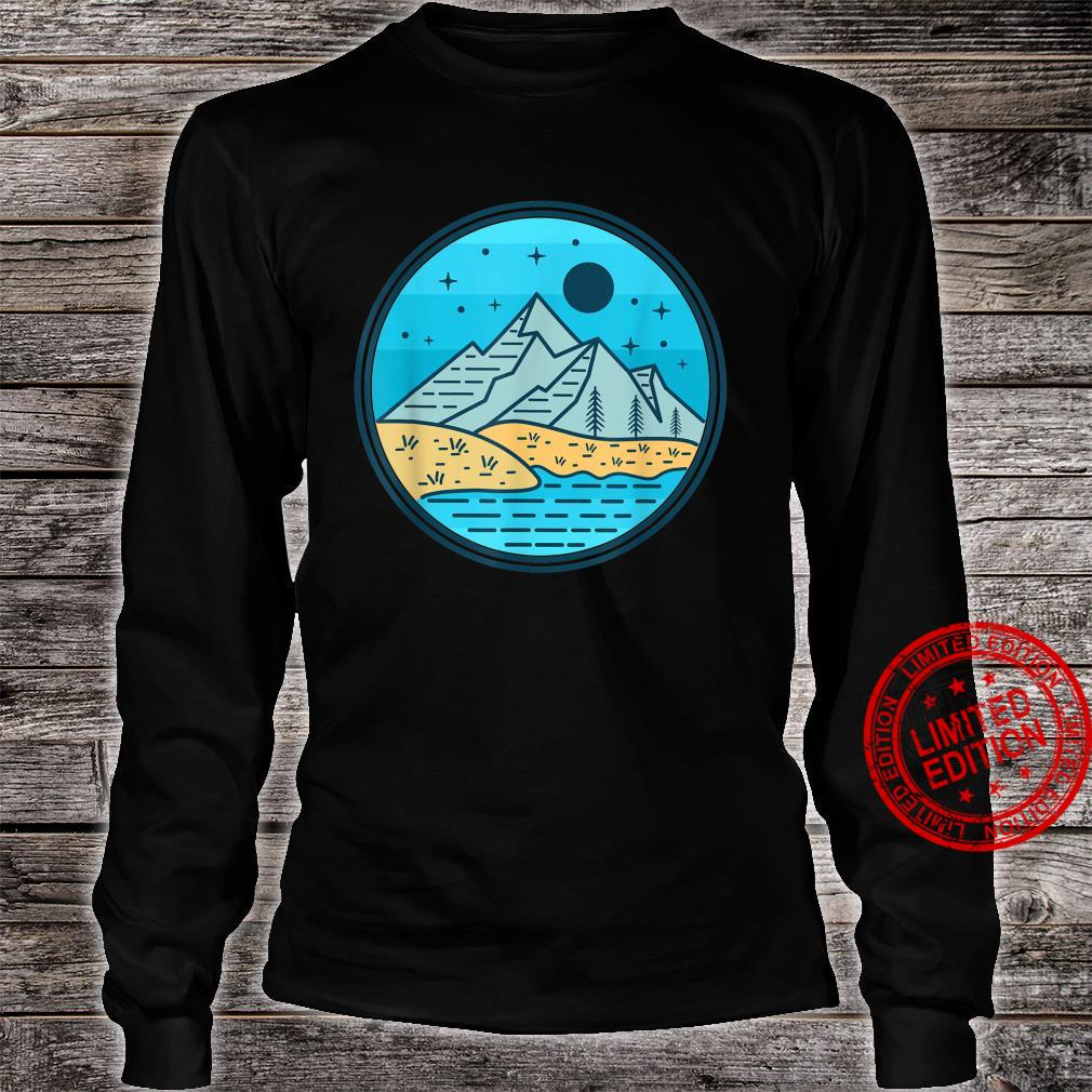 Nature Hiking Mountain Moon Shirt long sleeved