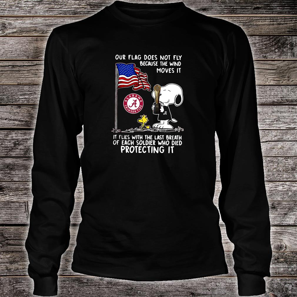 Our flag does not fly because the wind moves it shirt long sleeved