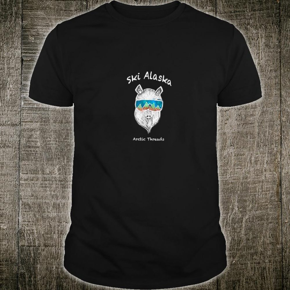 Outdoorsy Alaskan Skiing Bear Shirt