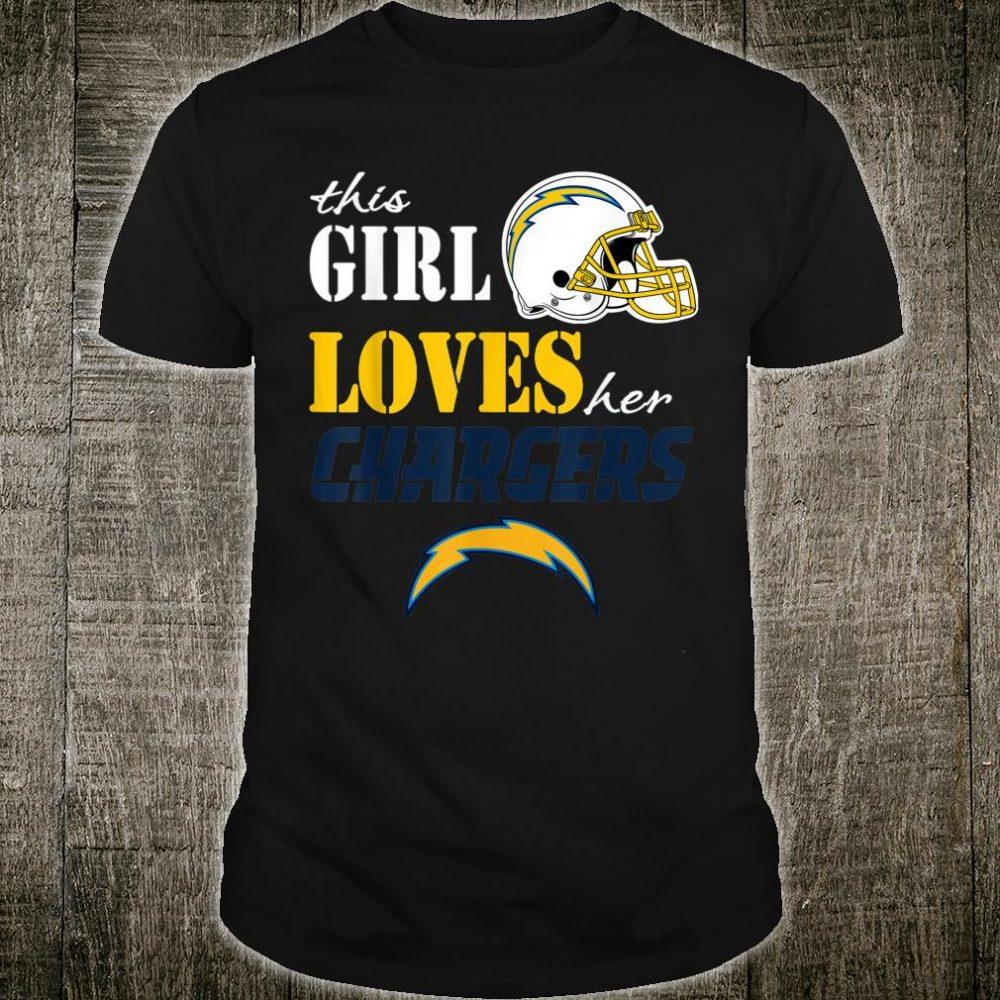 Patrick This Girl Loves Her Football LosAngelesCharger Shirt