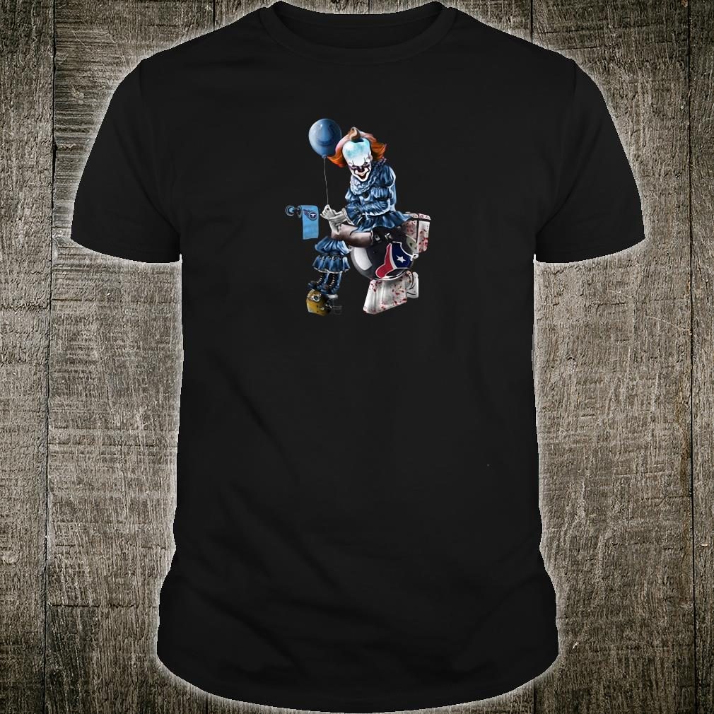 new concept 38a85 e0ede Pennywise tolet NFL team football Indianapolis Colts Houston Texans shirt