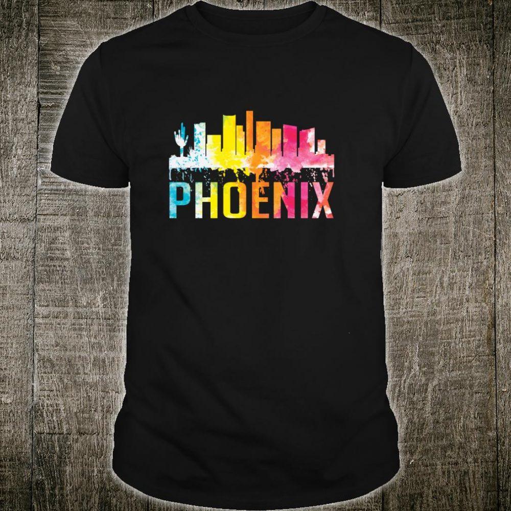 Phoenix Arizona Watercolor Skyline Home State Souvenir Shirt
