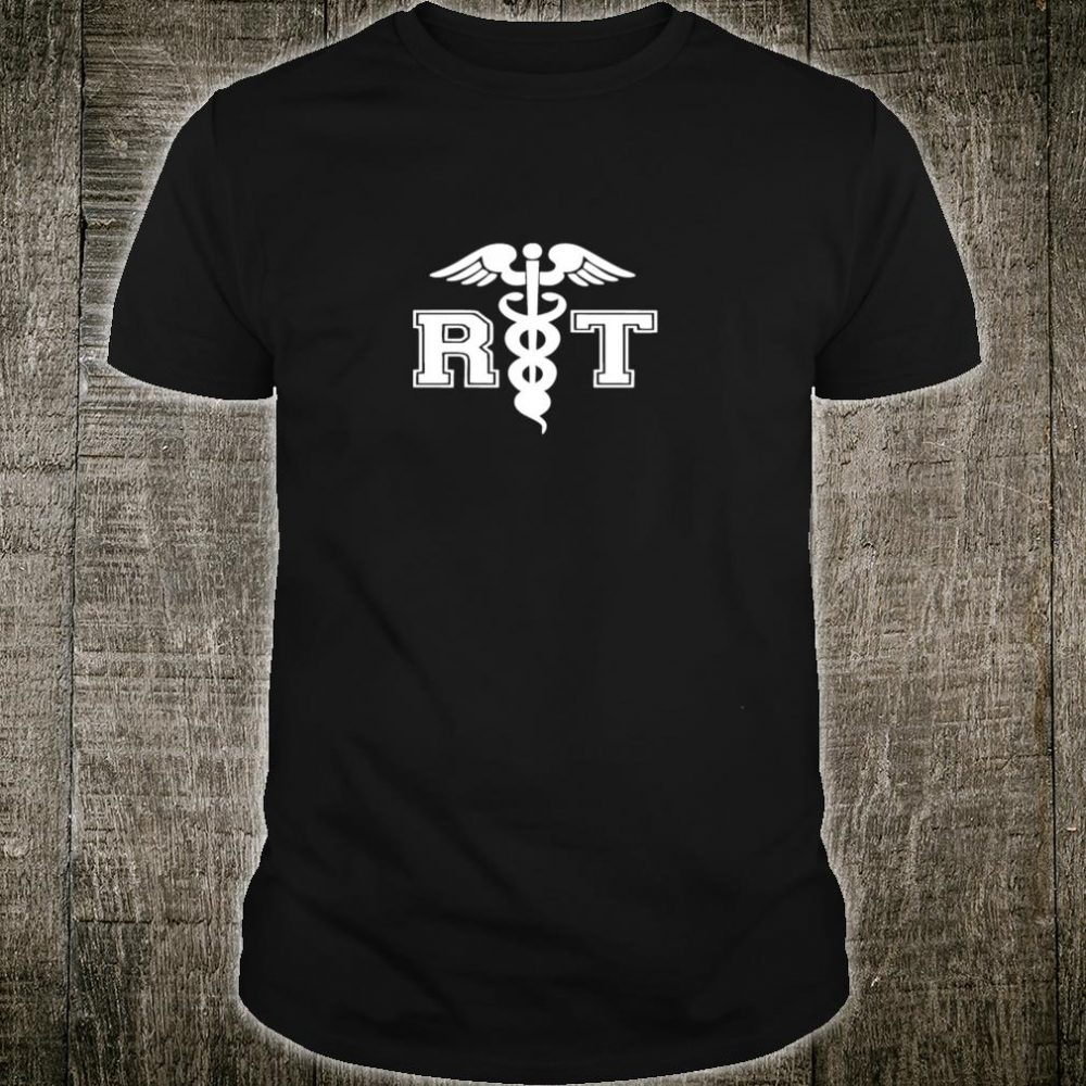 RT Respiratory Therapist with Medical Caduceus for RT Shirt