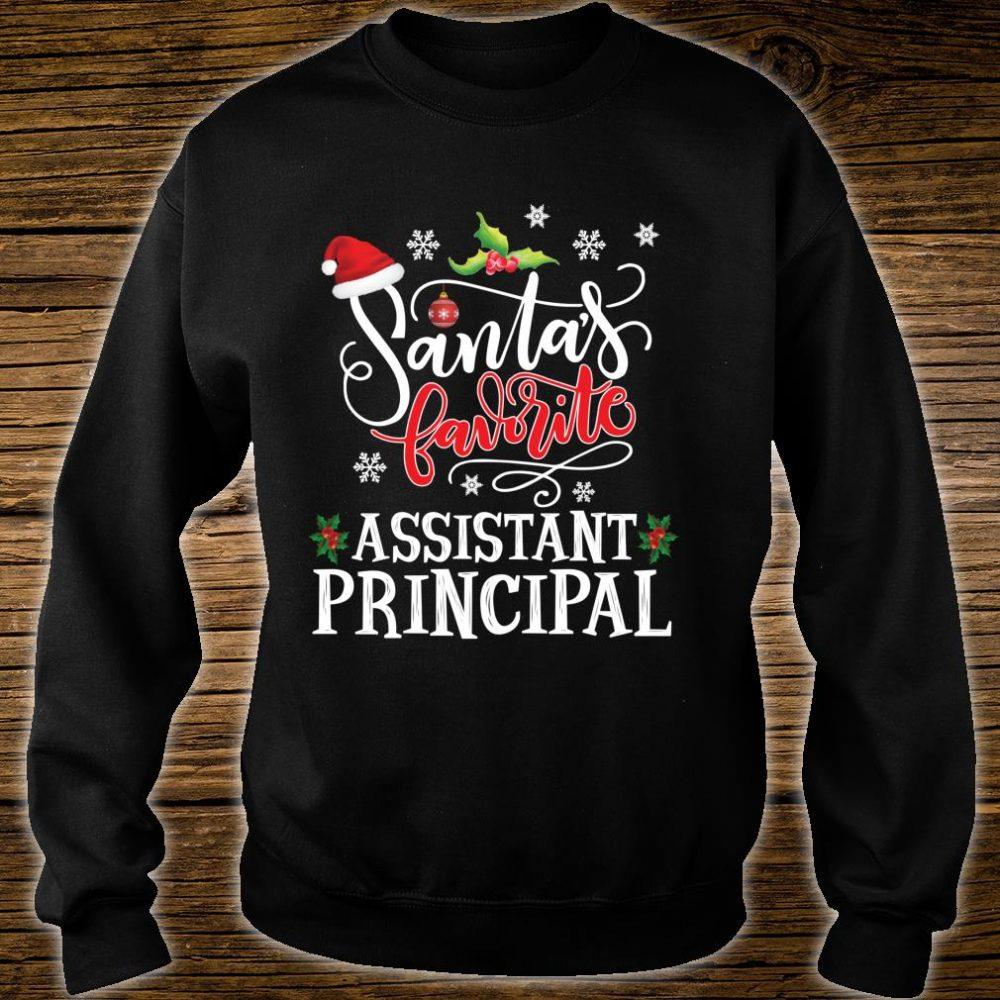 Santa's Favorite Assistant Principal Christmas Party Xmas Shirt sweater
