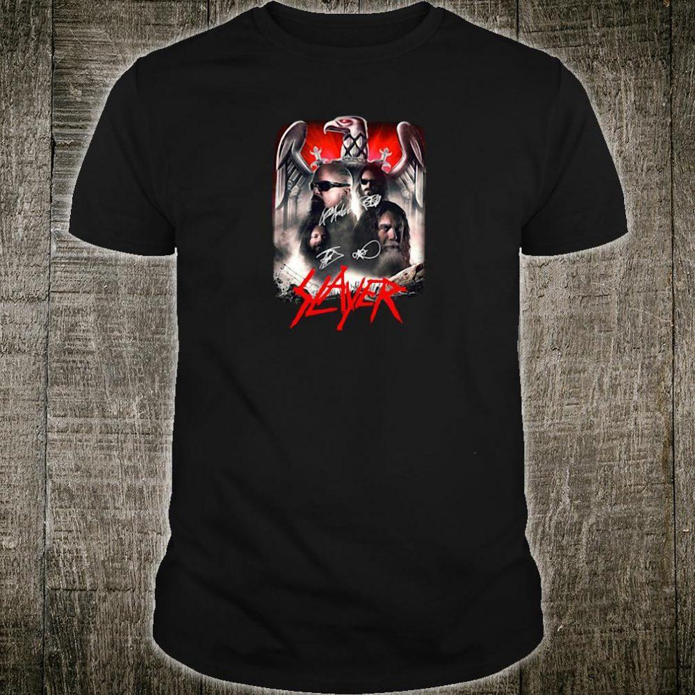 Slayer signatures shirt