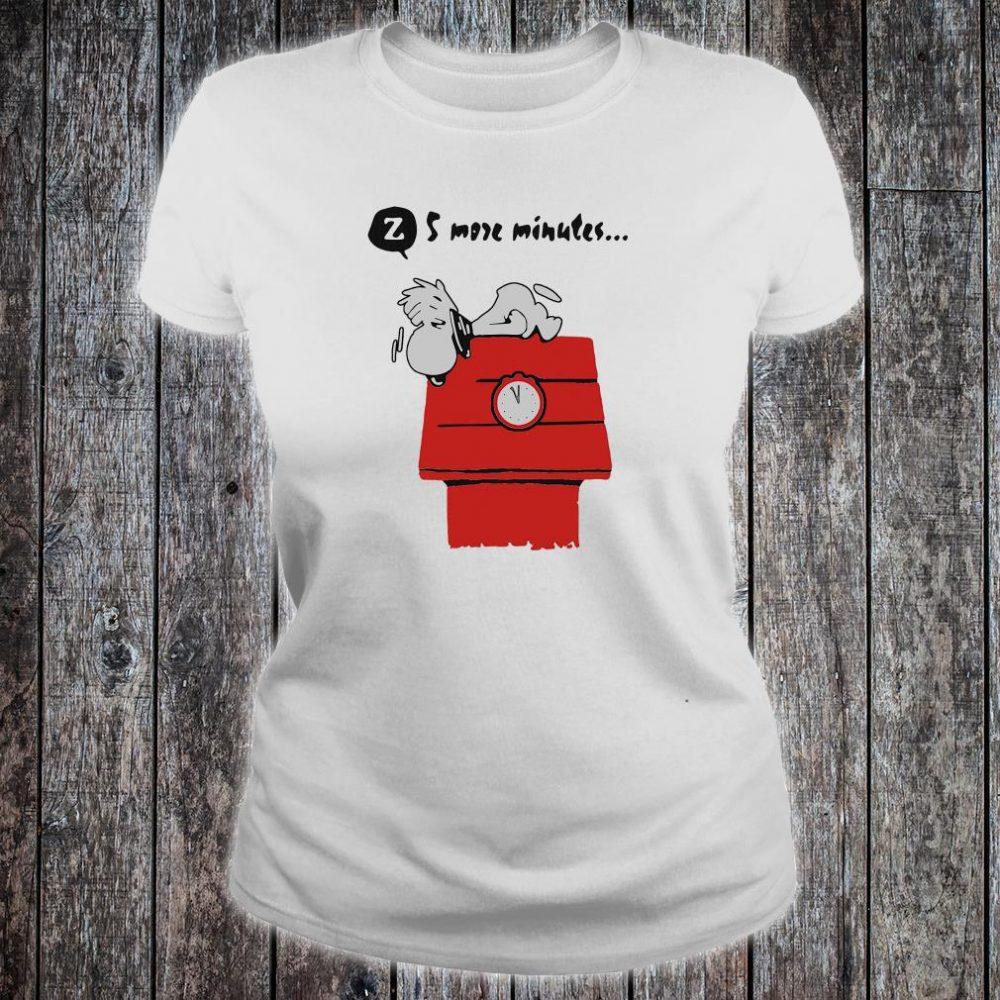 Snoopy 5 more minutes shirt ladies tee