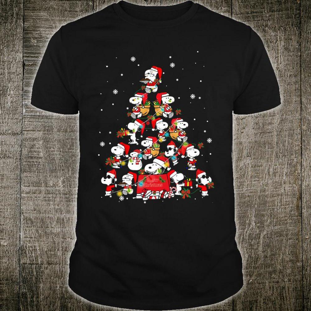 Snoopy christmas tree shirt