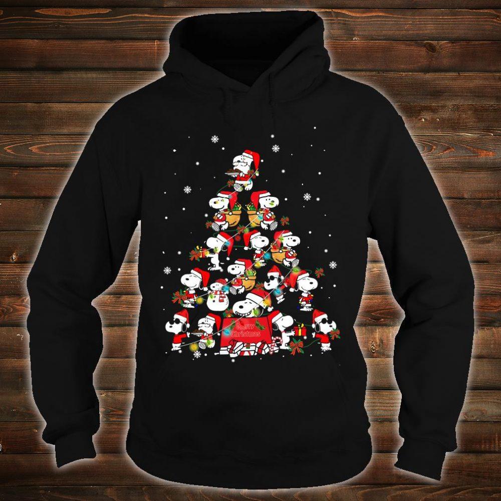 Snoopy christmas tree shirt hoodie