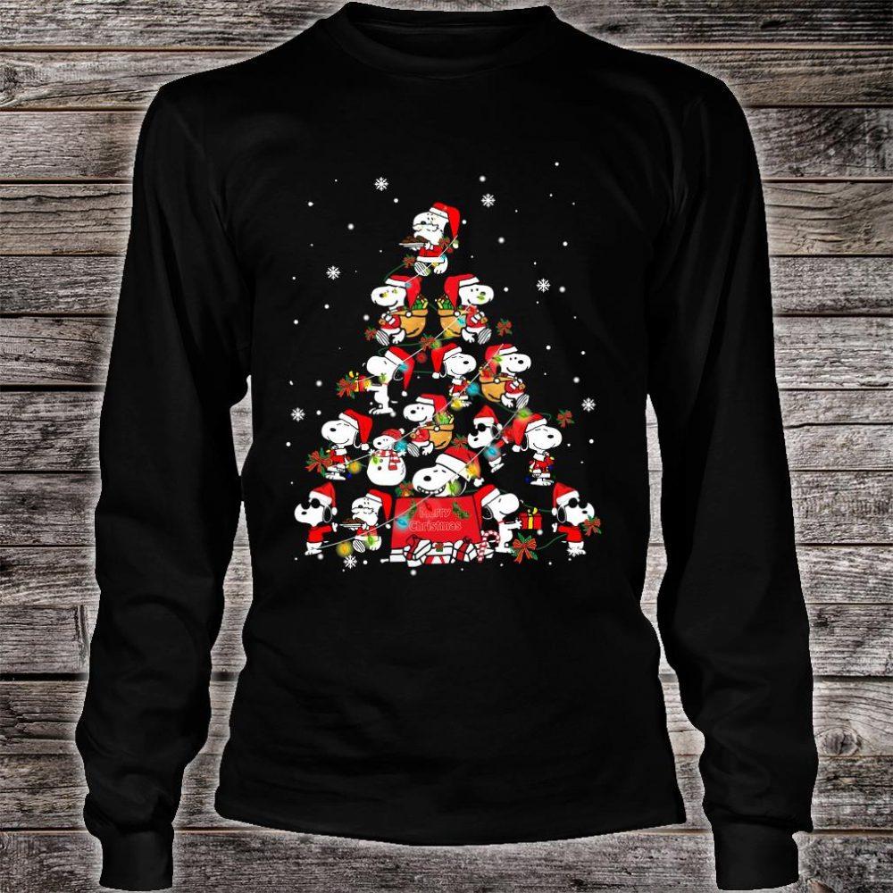 Snoopy christmas tree shirt long sleeved