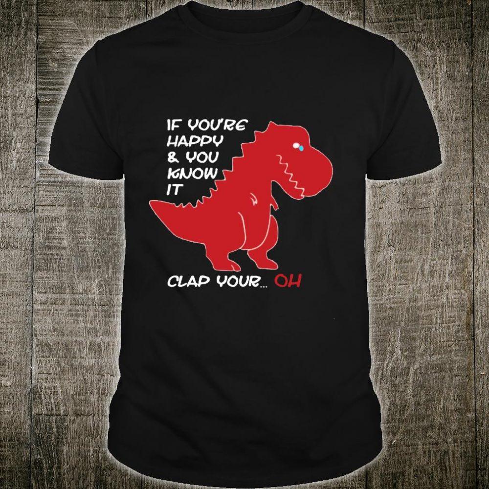TRex Clap Your OH Small Arms Dinosaur Dino Cool Cute Langarmshirt Shirt