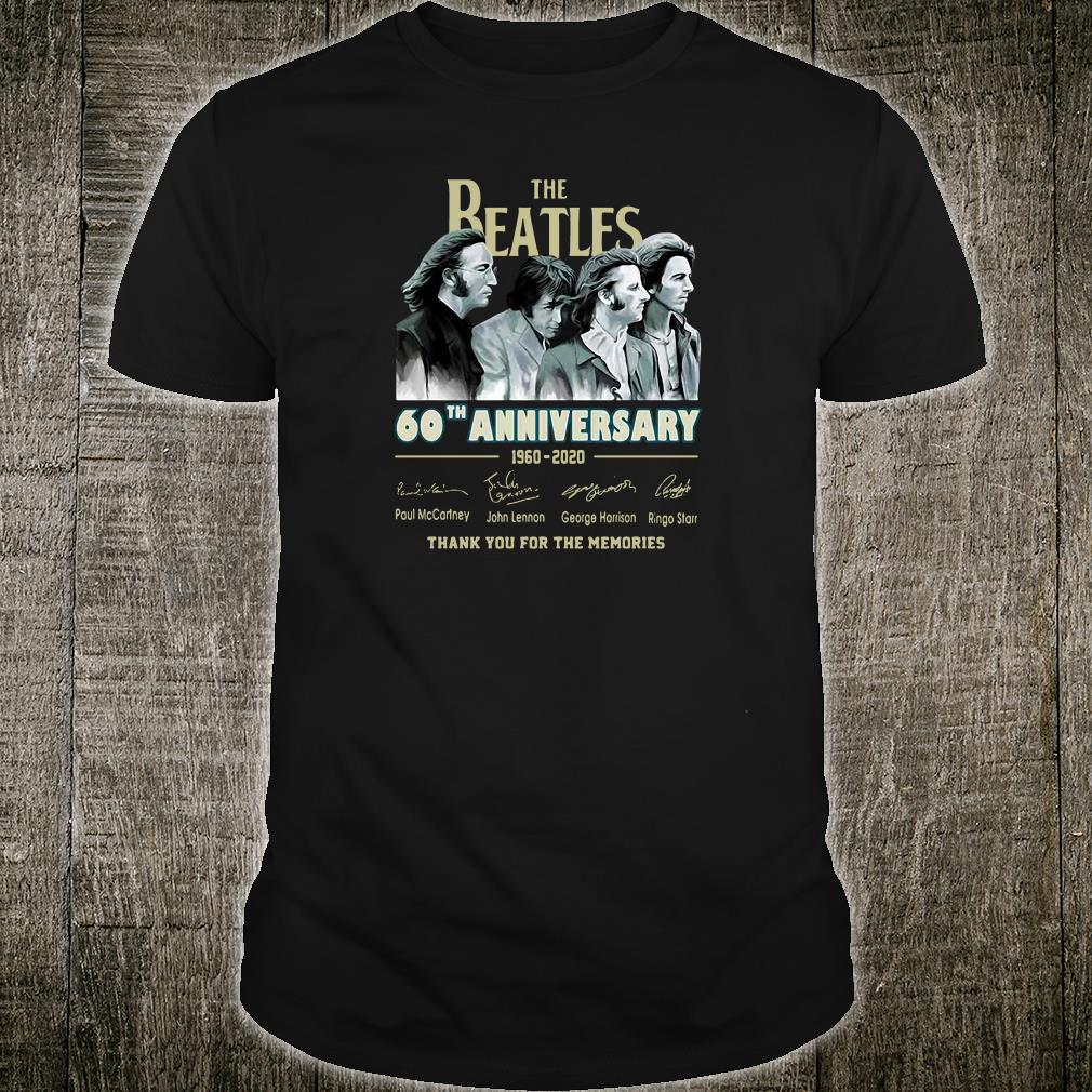 The Beatles 60th anniversary 1960 2020 shirt