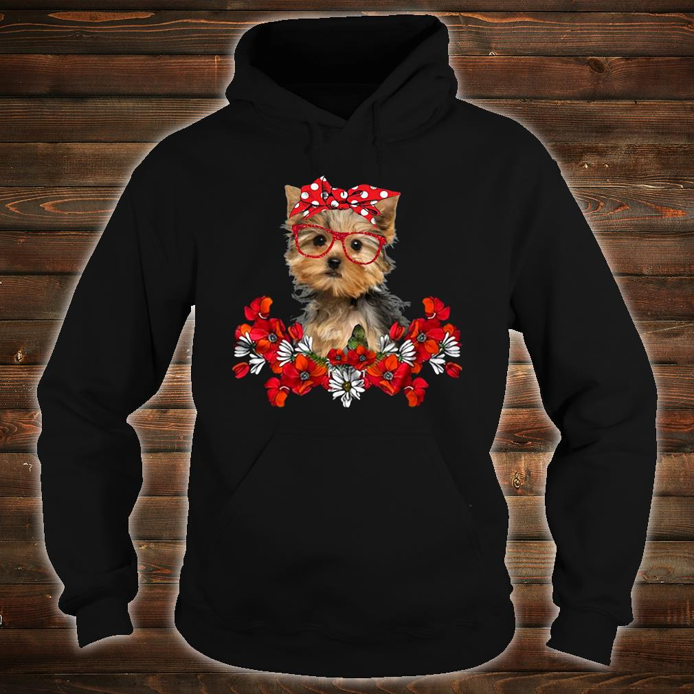 The Doggy with flower shirt hoodie