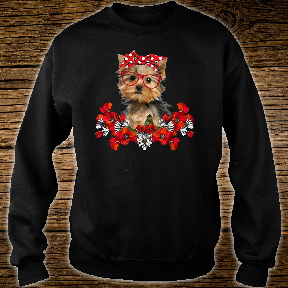 The Doggy with flower shirt sweater