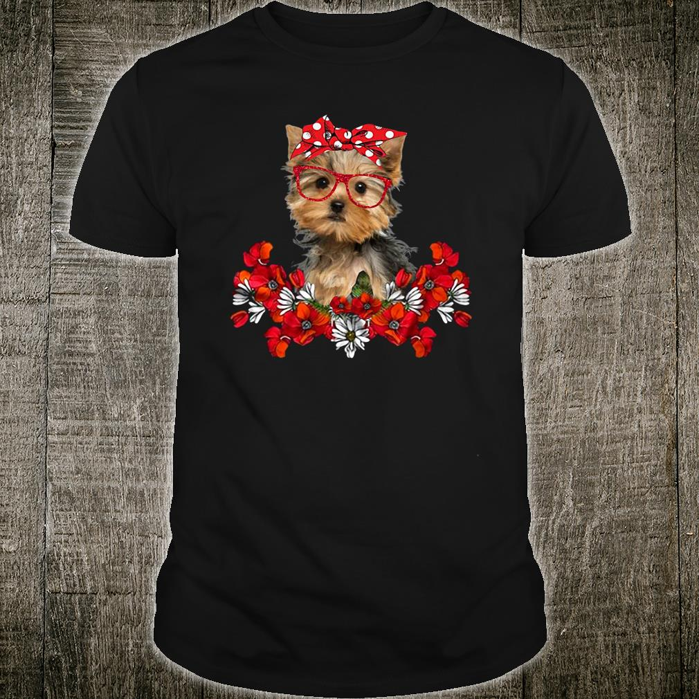 The Doggy with flower shirt