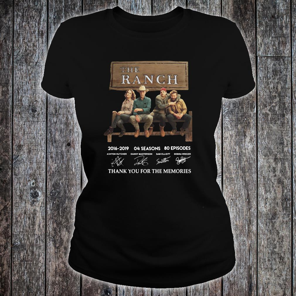The Ranch thank you for the memories signature shirt ladies tee