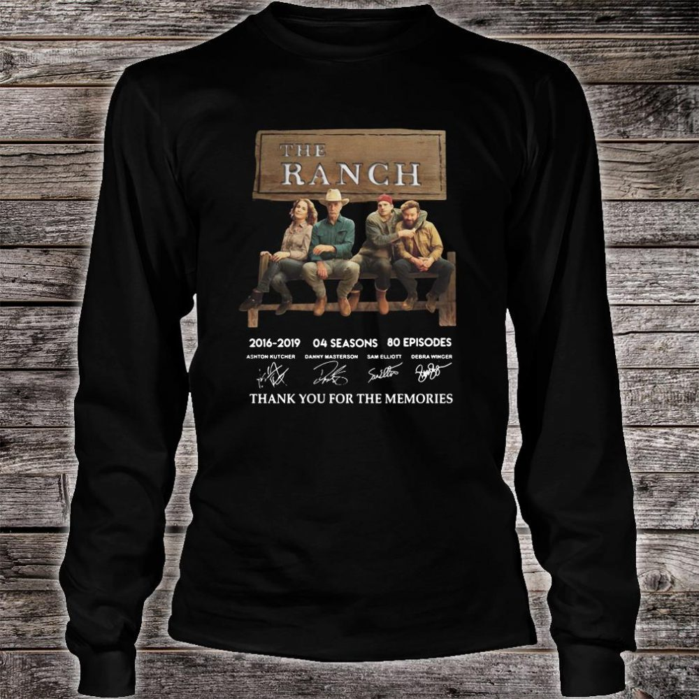 The Ranch thank you for the memories signature shirt long sleeved