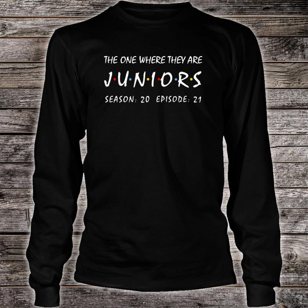 The one where they are Juniors season 20 episode 21 shirt long sleeved