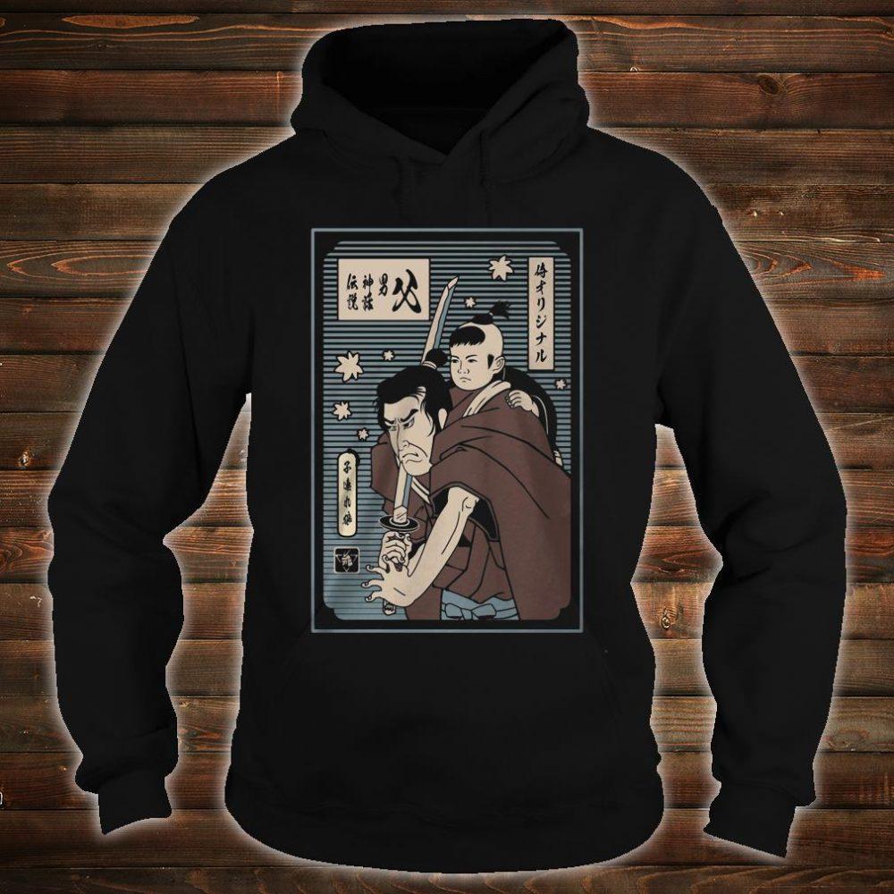 The papa samurai with son shirt hoodie