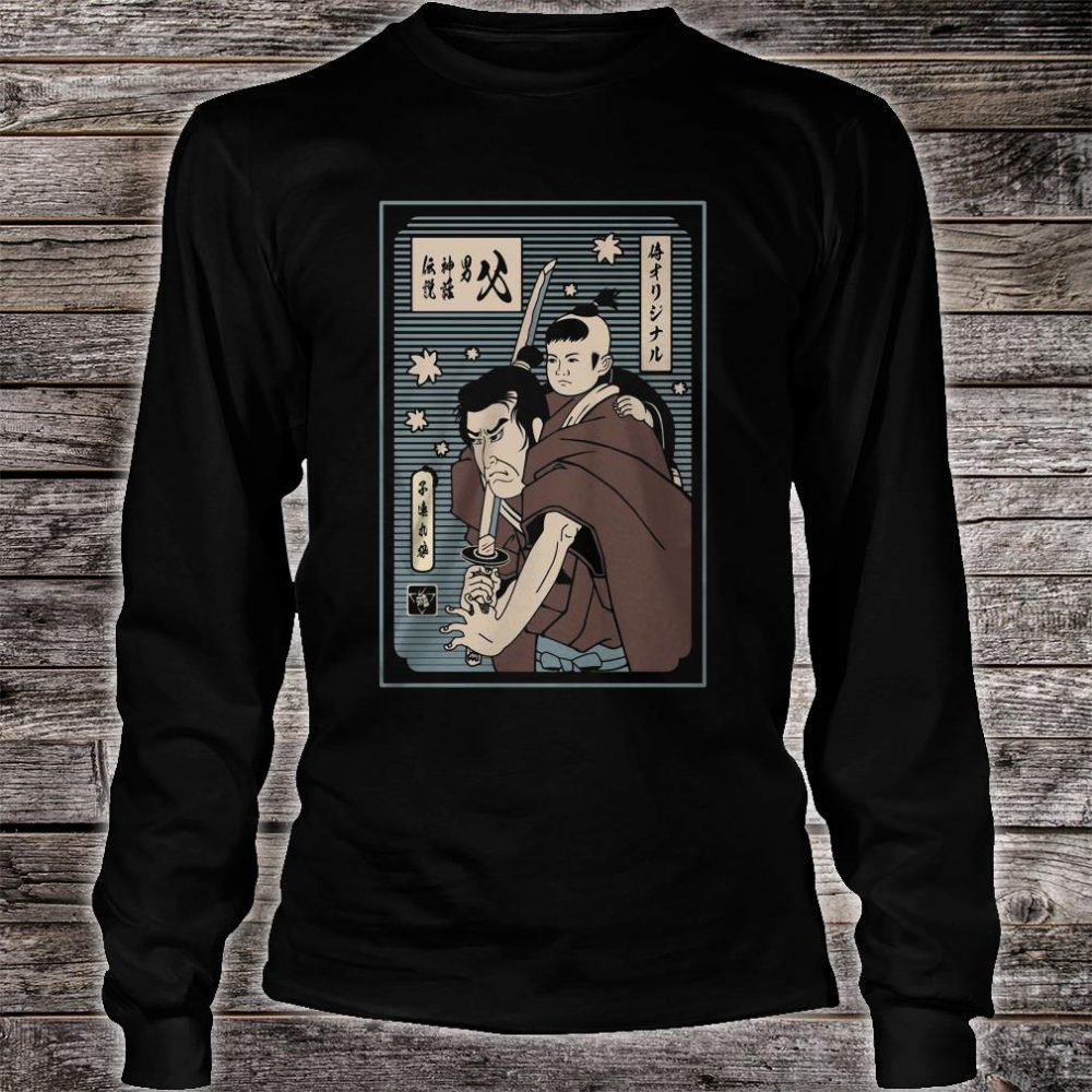 The papa samurai with son shirt long sleeved