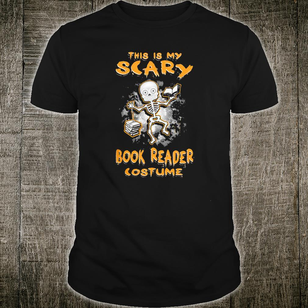This is my scary book reader costume shirt