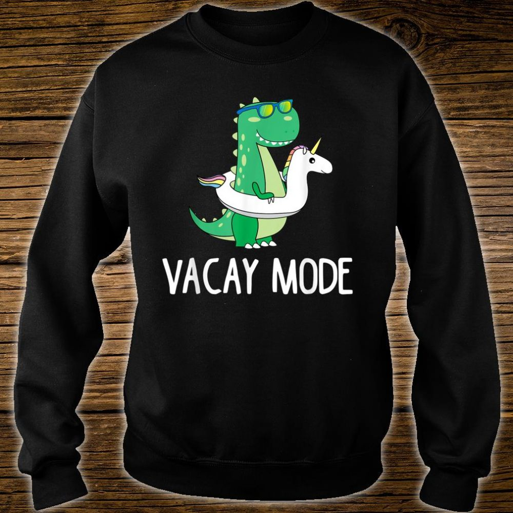 Vacay Mode Cute Dinosaur Family Vacation Shirt sweater