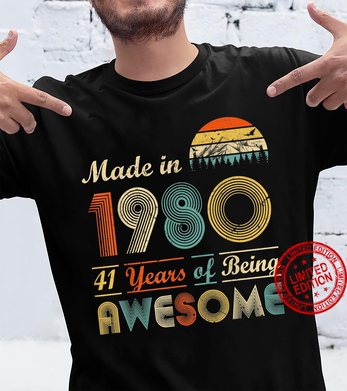 Vintage 1980 Made in 1980 41st birthday 41 years old Shirt