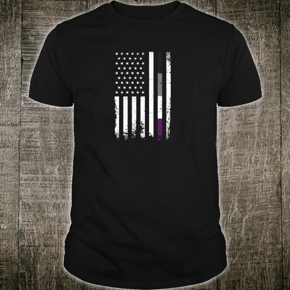 Vintage Asexual Pride LGBT American Flag Community Parade Shirt