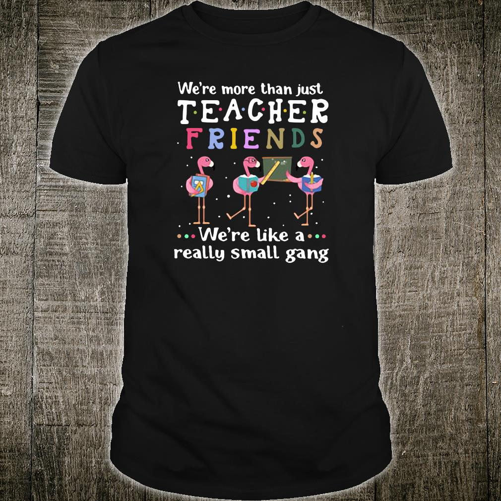 We're more than just teacher friends we're like a really small gang shirt