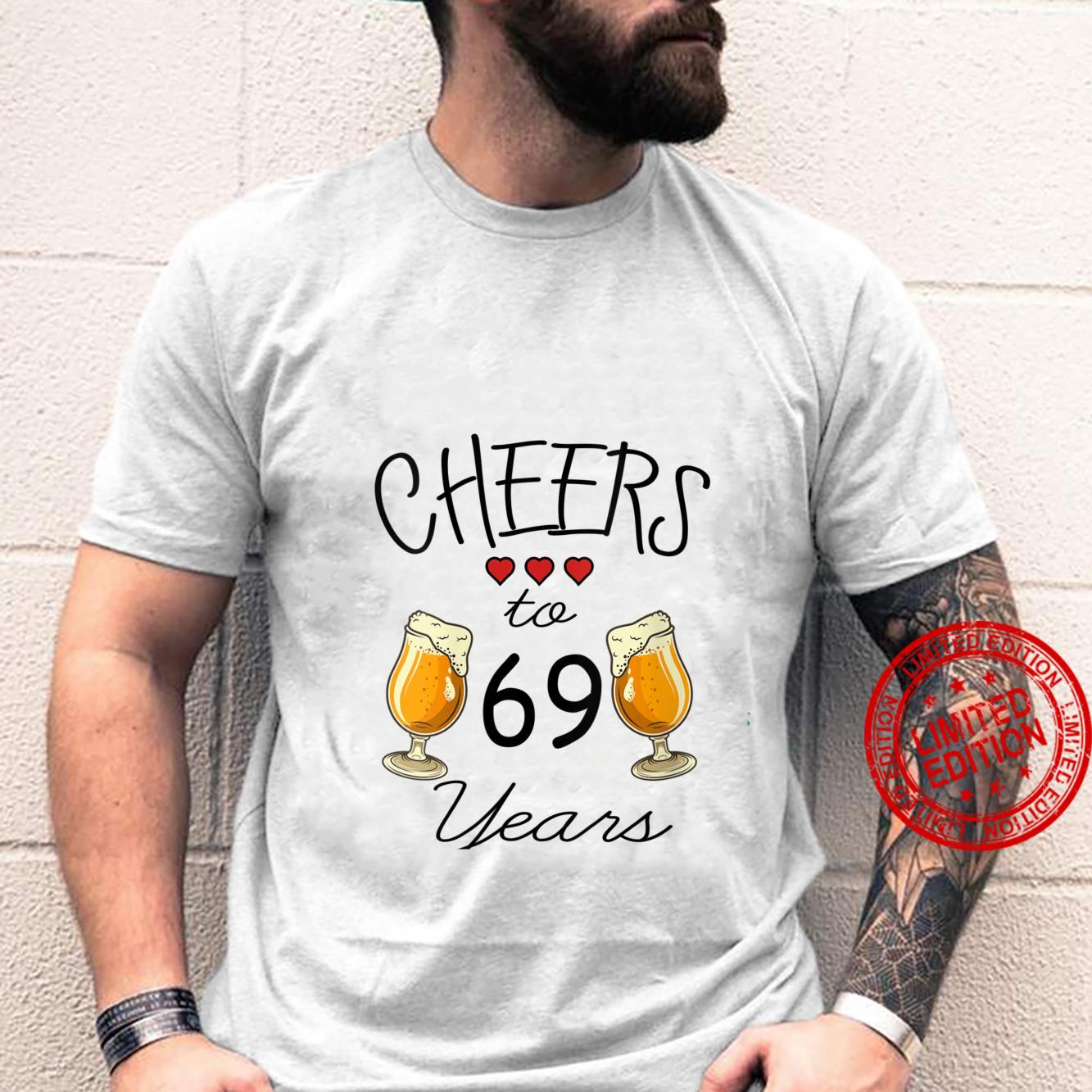 Womens 69th Birthday Cheers to 69 Years Old Bday Shirt