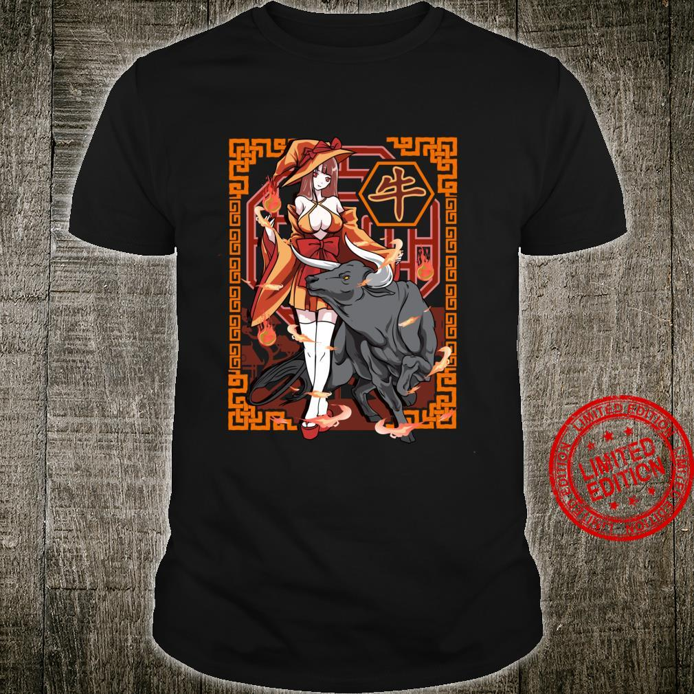 Year of The OX Chinese Zodiac Witch Halloween Anime Shirt